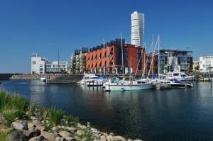 Småbåtshamnen vid Bo01 området i Västra Hamnen