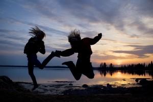 Hopp, GlŠdje, Sommarnatt, SolnedgŒng, TŠfteŒ, Norrland